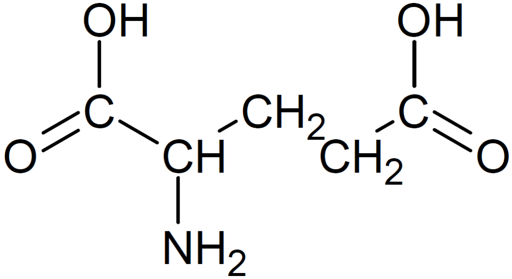 グルタミン酸の構造式