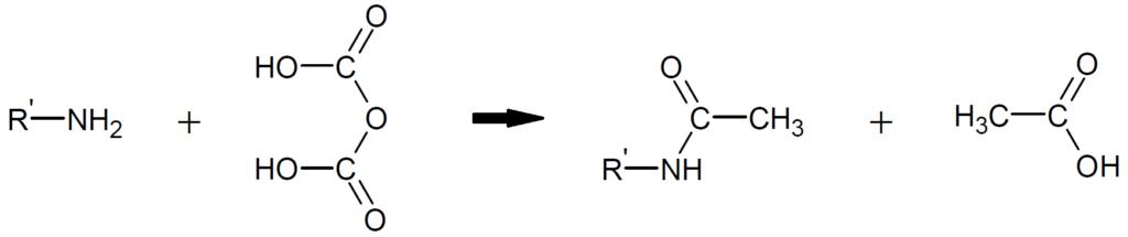 アセチル化の化学反応式