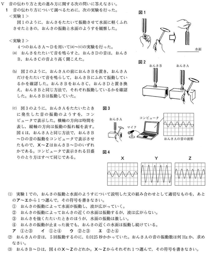 兵庫県公立高校入試2021Ⅴ-1