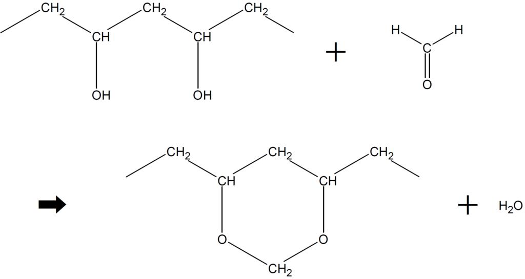 ポリビニルアルコールのアセタール化